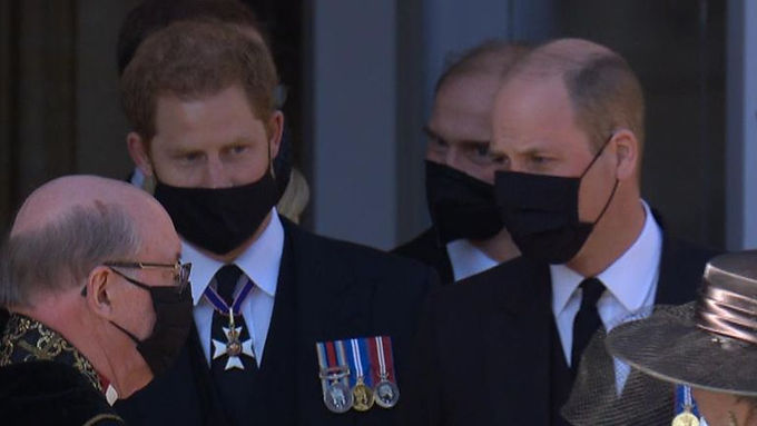 Lip readers reveal what William and Harry talked about at Prince Philip's funeral