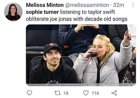 Fans react to Sophie Turner Posting Taylor Swift's new song about her ex, Joe Jonas