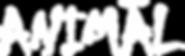 Animal White Vector Logo - Black Backgro