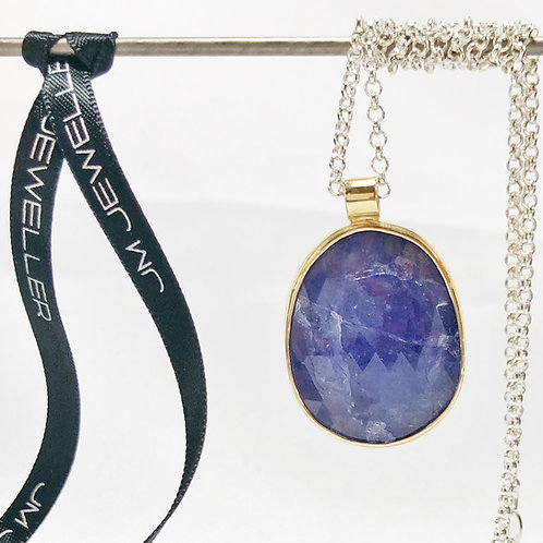 Natural Tanzanite Pendent in 9ct Yellow Gold