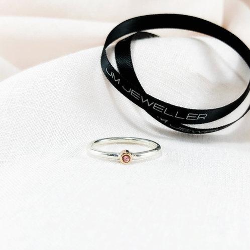 Pink Grapefruit Sapphire Ring