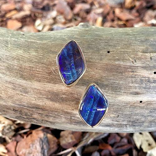 Queensland Boulder Opal Split Earrings