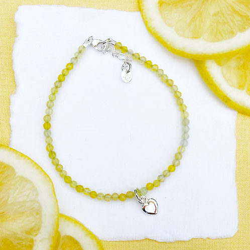 Yellow Agate Gemstone Bracelet