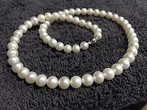 Pearls: Before Cleaning and Re-stringing