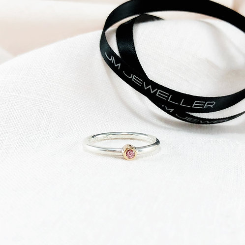Tea Rose Pink Sapphire Ring