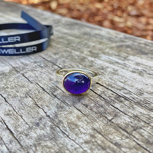 Oval Amethyst Cabachon Ring