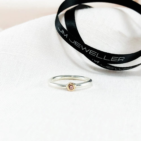 Pink Champagne Sapphire Ring