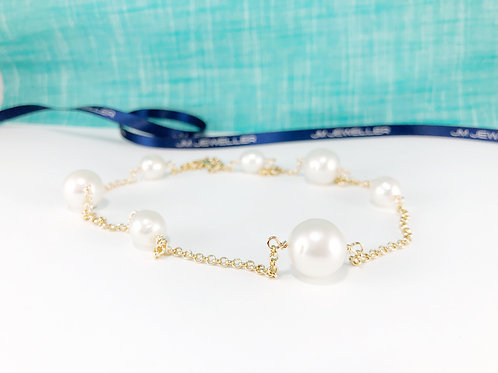 Multiple South Sea Pearl and 9ct Gold Necklace