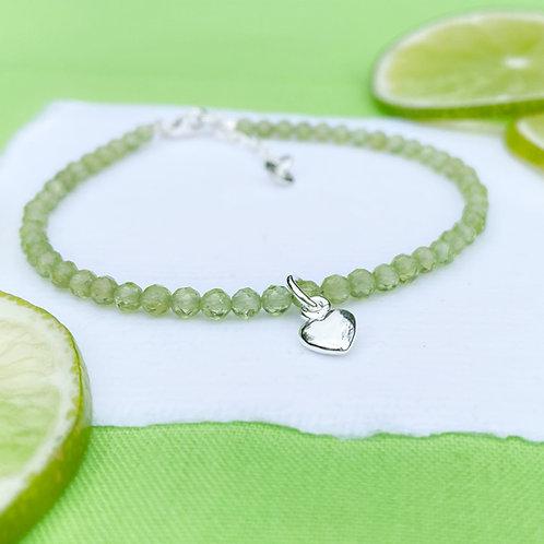 Peridot Gemstone Bracelet