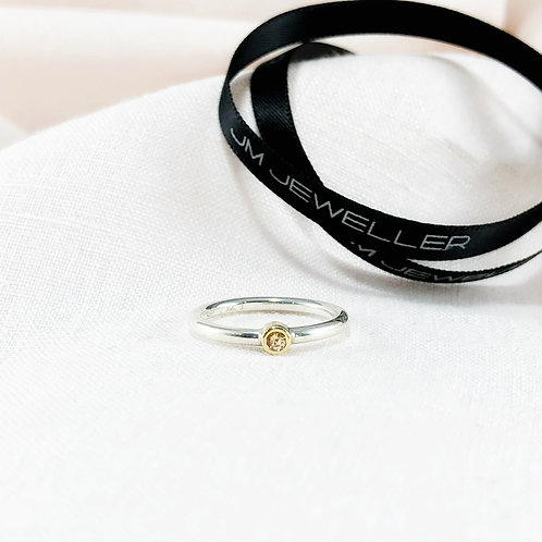 Pale Peach Sapphire Ring