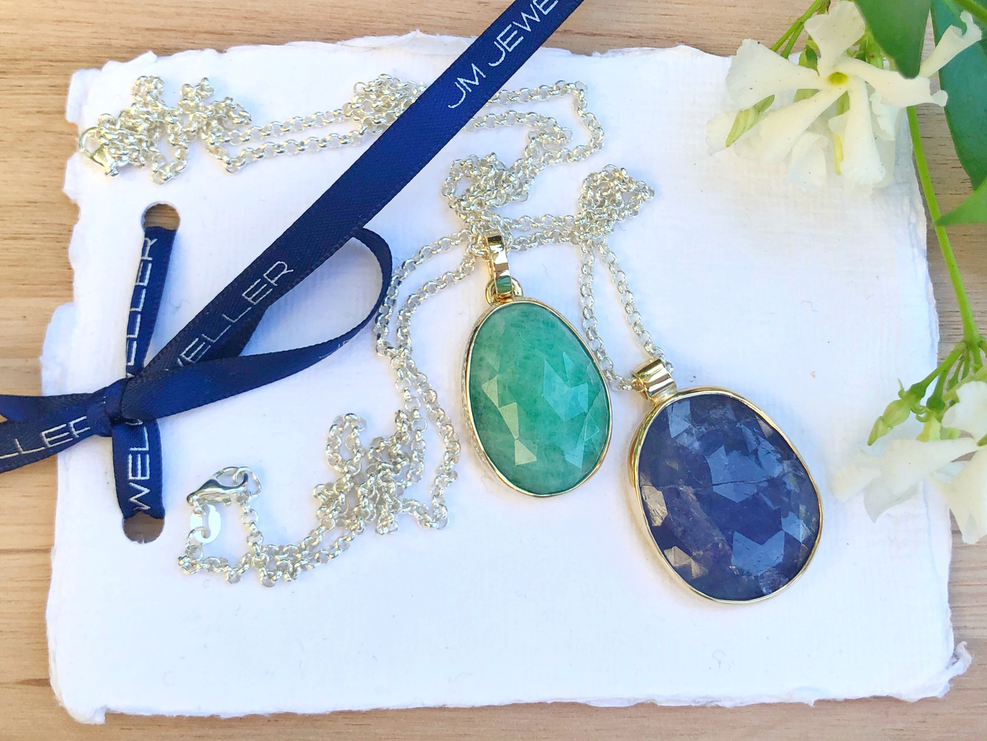 Emerald and Tanzanite Pendent