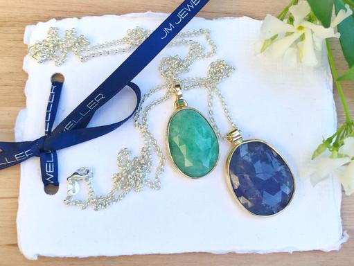 Emerald and Tanzanite Pendent