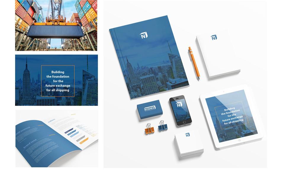 New York Shipping Exchange Start-up Branding