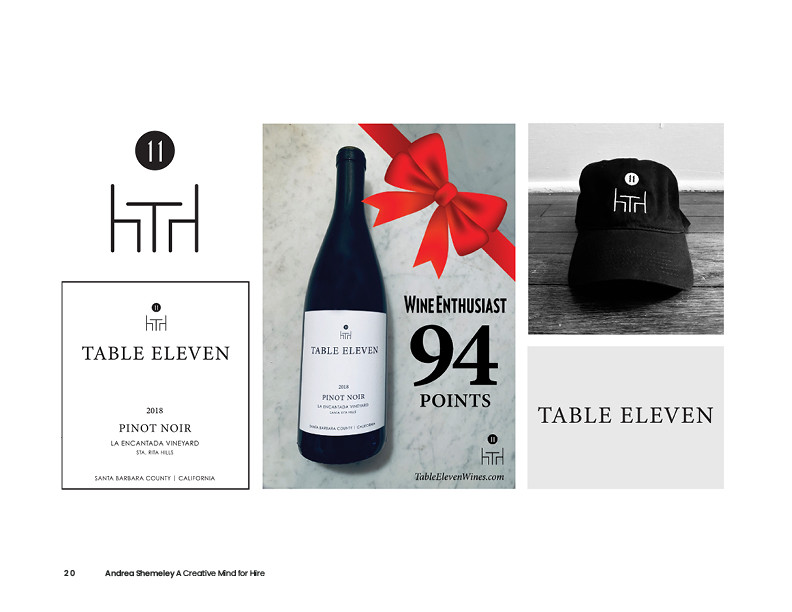 Table Eleven Wines Branding Project