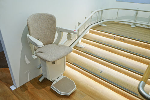electronic aid for stairs