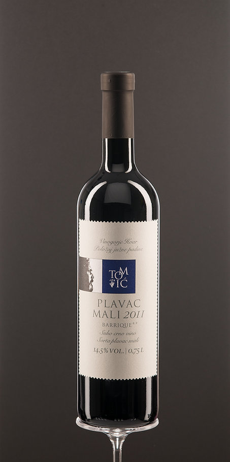 Plavac mali barrique, dry red wine, top quality wine
