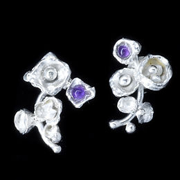 Silver:Amethyst Flower Earrings.jpg