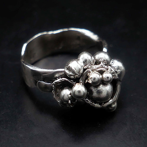 Granulated sterling ring. US 6