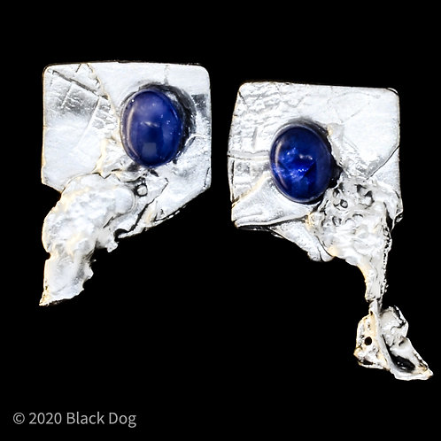 Silver and Tanzanite Earrings