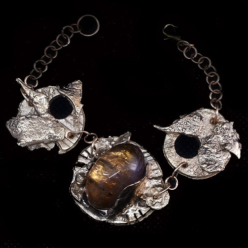 Ametrine and Bronze Bracelet