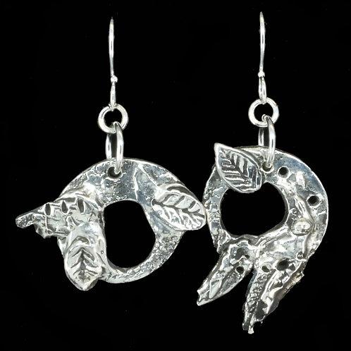 Silver Enso Earrings