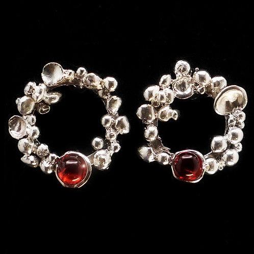 Hessonite Garnet and Sterling Earrings