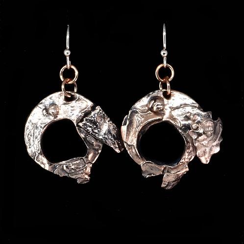Copper  Enso Earrings