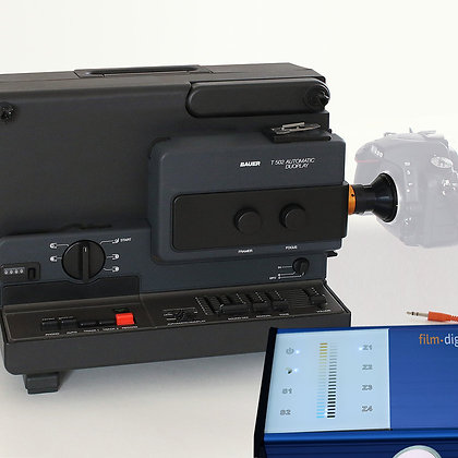 1011 | Super 8 Set für die eigene DSLR-Kamera oder Filmkamera / Bauer T502