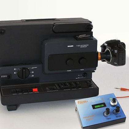 1016 | Super 8 Komplettset (Bauer T502) mit Canon EOS 7D mark II