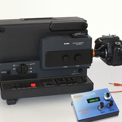 1012   Super 8 Komplettset (Bauer T502) mit Nikon D750
