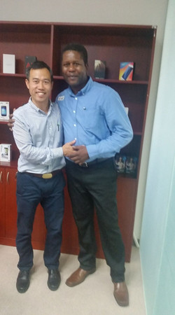 With Sales Manager - Eric