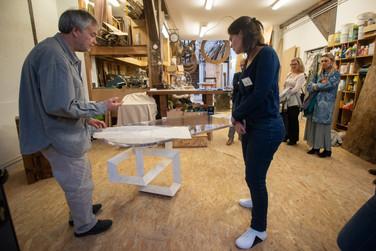 Afterwork DecoWorkers au 37 bis à Paris avec la visite des ateliers d'art et d'artisanat. Rencontre avec Yves Fouquet