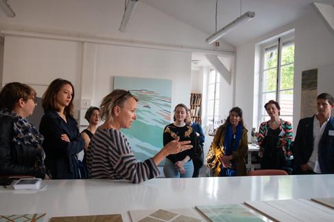 Afterwork DecoWorkers au 37 bis à Paris avec la visite des ateliers d'art et d'artisanat. Fanny Chaix Bryan nous présente son travail.