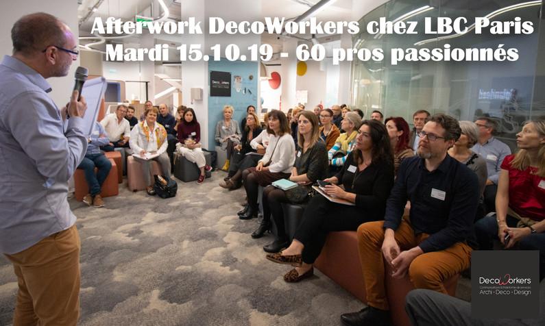 Afterwork DecoWorkers spécial Workspace chez LBC Le Bureau Contemporain Paris - 60 professionnels passionnés