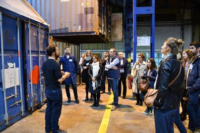 Afterwork DecoWorkers à ICI Marseille - Visite des ateliers makers dans le fablab aux containers