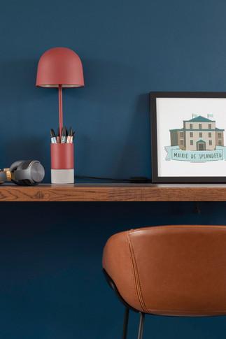 Bureaux aménagés comme à la maison chez DecoWorkers et Splandeed à Senlis, décorés par Coralie Vasseur, agence Carnets Libellule - cadre de la mairie de Splandeed