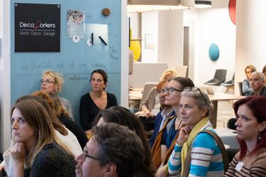 Afterwork DecoWorkers spécial Workspace chez LBC Le Bureau Contemporain Paris - intervention de Grégory Rouca de LVMH sur les futurs espaces de travail