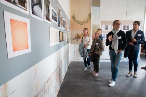 Afterwork DecoWorkers au 37 bis à Paris avec la visite des ateliers d'art et d'artisanat. Visite de la galerie atelier de Laurent Chwast