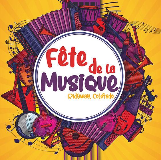 This is the Ridgway Fete de la Musique Logo