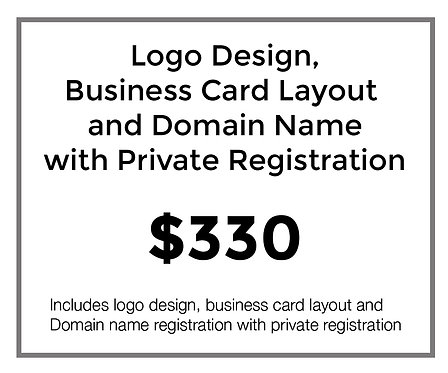 Logo Design with Domain Name and Private Registration