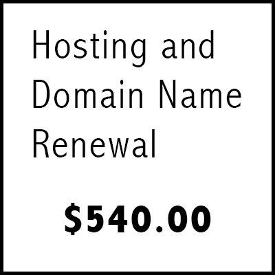 Hosting and Domain Name Renewal