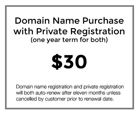 Domain Name with Private Registration