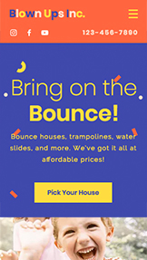 Event Production website templates – Bounce House Rental