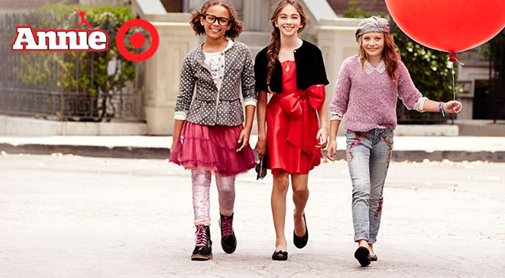 Multiracial Target poster for their Annie range