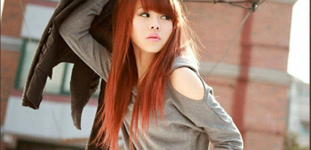 Redheaded Asian girl