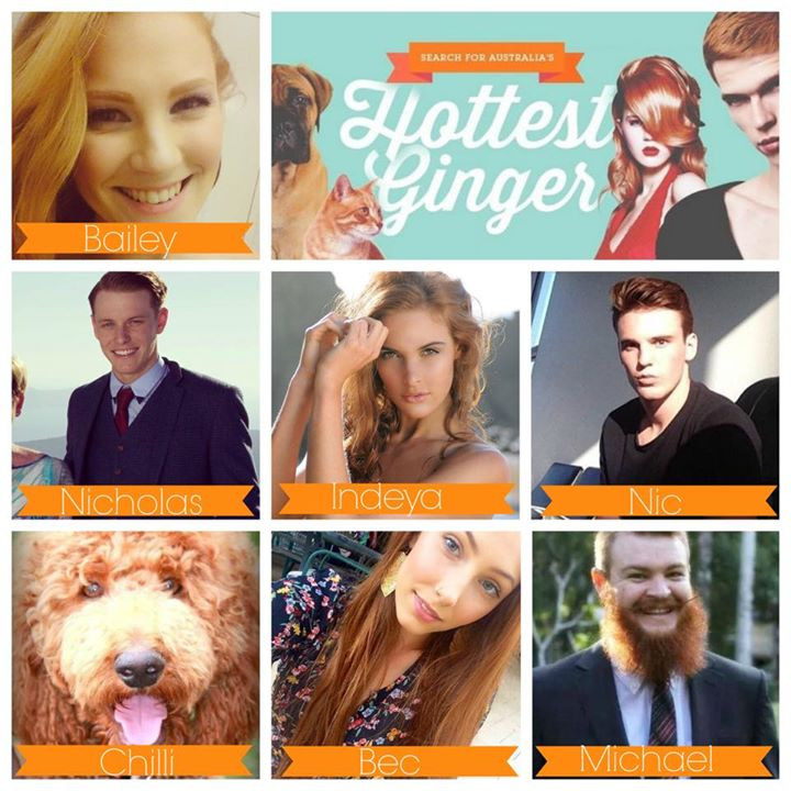Finalists for Buderim Ginger's Australia's Hottest Ginger competition