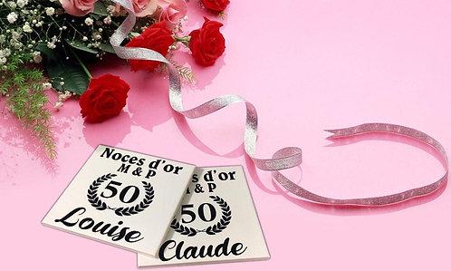 Sticker pour sous-verres Anniversaire de Mariage