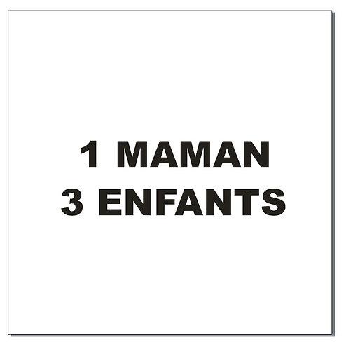 Sticker BAL Famille renards: 1 maman, 3 enfants