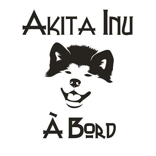 Sticker Akita Inu à Bord 2