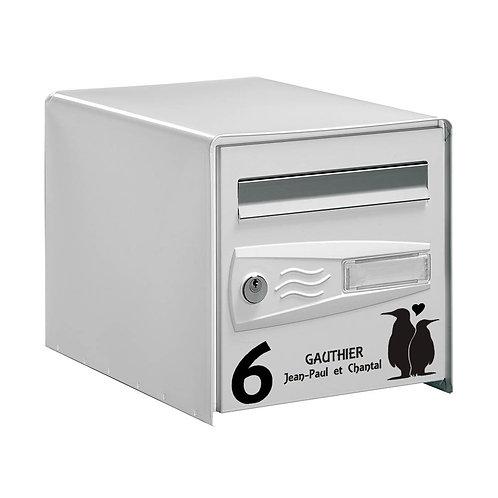Sticker Boîte aux lettres Couple Pingouins 1